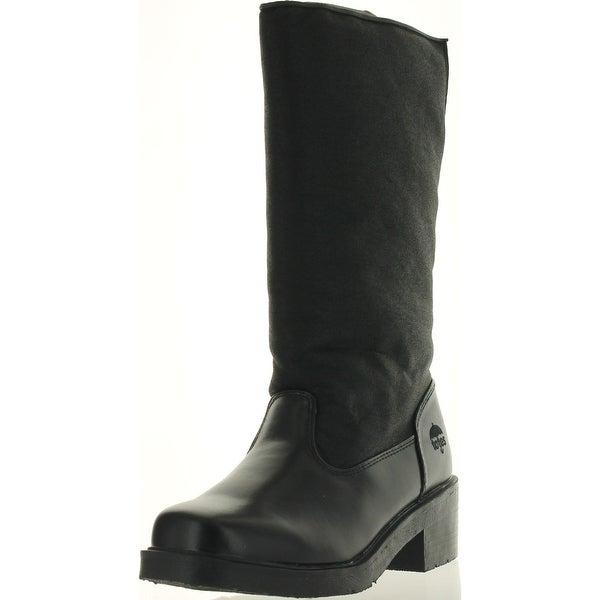 Totes Womens Paula Waterproof Winter Snow Boots - Black