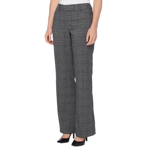Tahari Womens Petites Trouser Pants Mid-Rise Straight Leg
