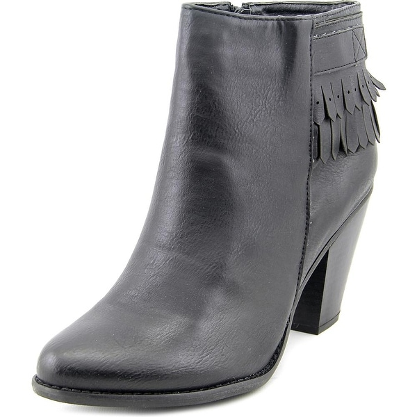 Dolce by Mojo Moxy Belmont Women Round Toe Synthetic Black Ankle Boot