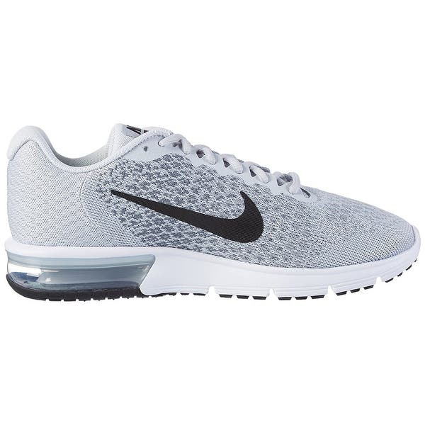 8a0331ddda1ac Shop Nike Men's Air Max Sequent 2 Pure Platinum/Black/Cool Grey ...