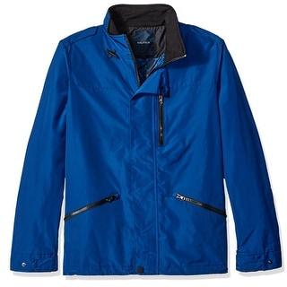 Nautica NEW Blue Mens Size Large L Full Zip Windbreaker Field Jacket