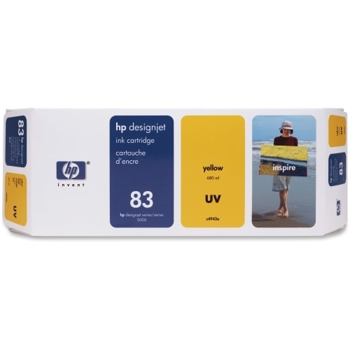 HP 83 680-ml Yellow DesignJet UV Ink Cartridge (C4943A) (Single Pack)