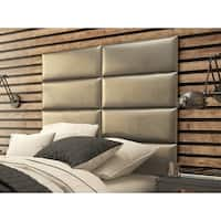 Vant Upholstered Wall Panels (Headboards) Sets of 4 - Metallic Neutral - 30 Inch - Full-Queen.