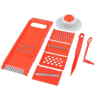"Link to 8 in 1  Vegetable Fruit Plastic Sh Grater Kitchen Cutter Combination - Orange - 10"" x 3.5"" x 0.6""(L*W*T)(Base) Similar Items in Cookware"