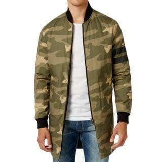 Sean John NEW Green Black Mens Size 2XL Reversible Camo Bomber Jacket