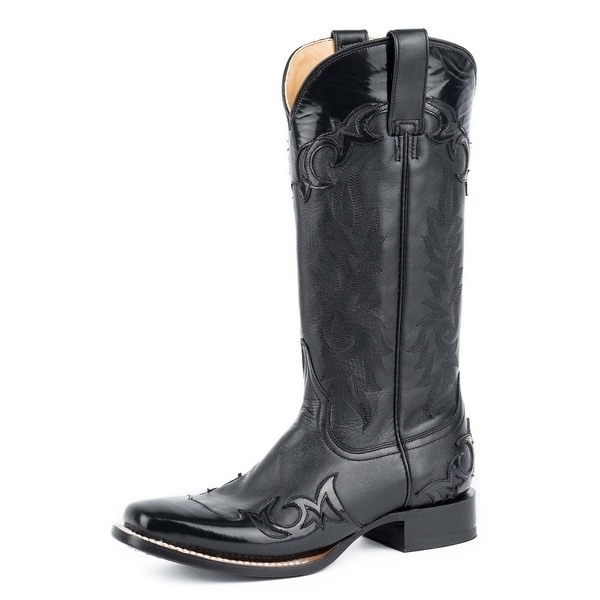Stetson Western Boots Womens Narrow Square Black