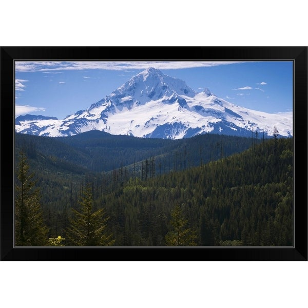 """USA, Oregon, View of Mount Hood"" Black Framed Print"