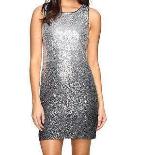 Vince Camuto NEW Silver Women's Size 2 Ombre Sequin Sheath Dress