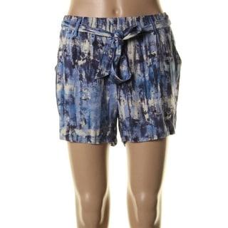 Be Bop Womens Juniors Jersey Printed High-Waist Shorts - M
