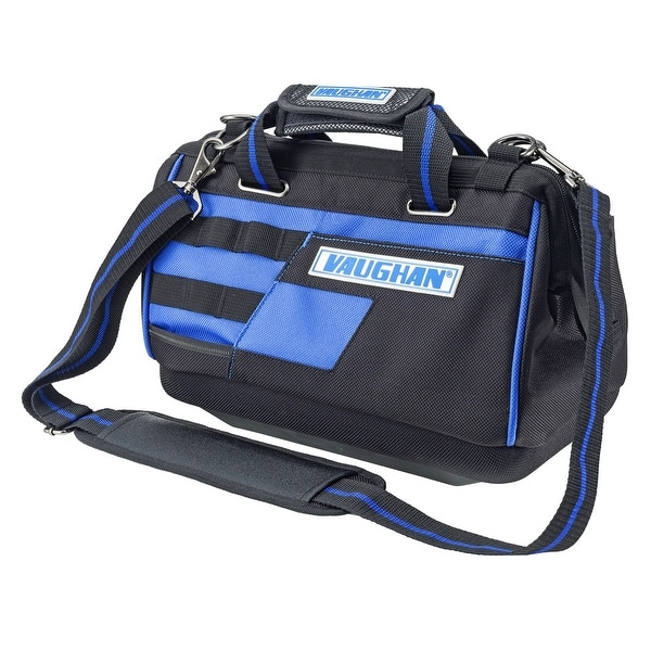 Vaughan 13 in. 9 Pocket Wide Mouth Tool Bag 8 Tool Loops 1200D - 240156