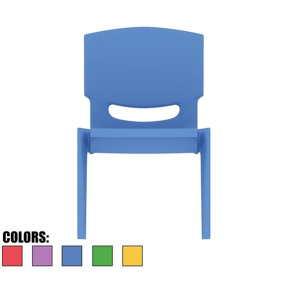 """2xhome - Blue - Kids Size Plastic Side 10"""" Seat Height Blue Chair"""