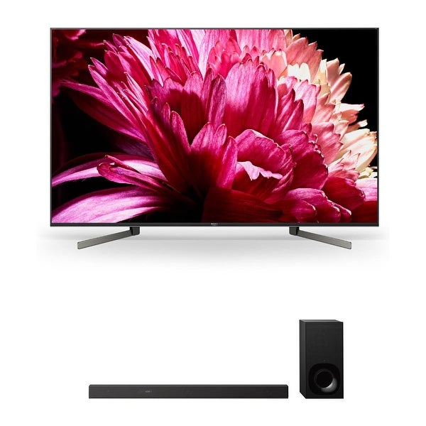 """Sony XBR65X950G 65"""" BRAVIA 4K Ultra HD HDR Smart TV and HT-Z9F 3.1-Channel Dolby Atmos Sound Bar with Subwoofer - Black"""