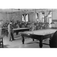 Billiards Room for Soldiers at the Y.M.C.A. - Vintage Photograph (Art Print - Multiple Sizes Available)