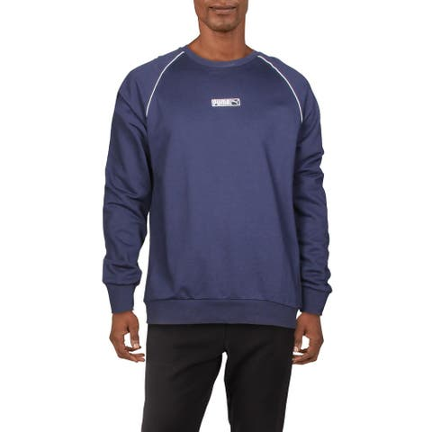 Puma Mens Sweatshirt Fitness Running - Peacoat