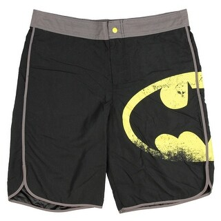 DC Comics Batman Men's Distressed Logo Swim Trunks