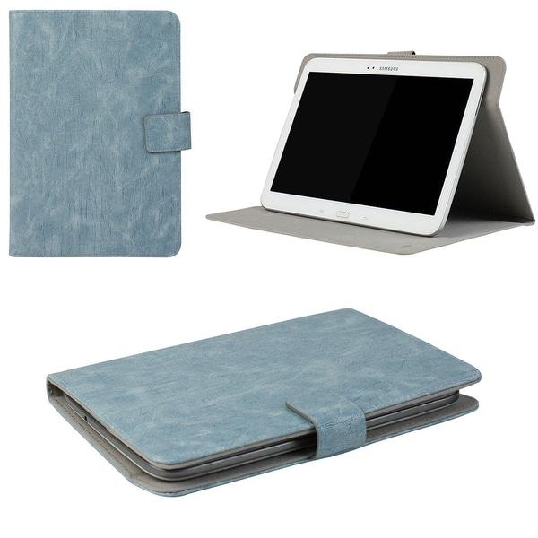 "JAVOedge Rugged Vintage Universal 7-8""Book Case for the iPad Mini, Samsung Tab, Nexus 7, Nook HD (Blue)"