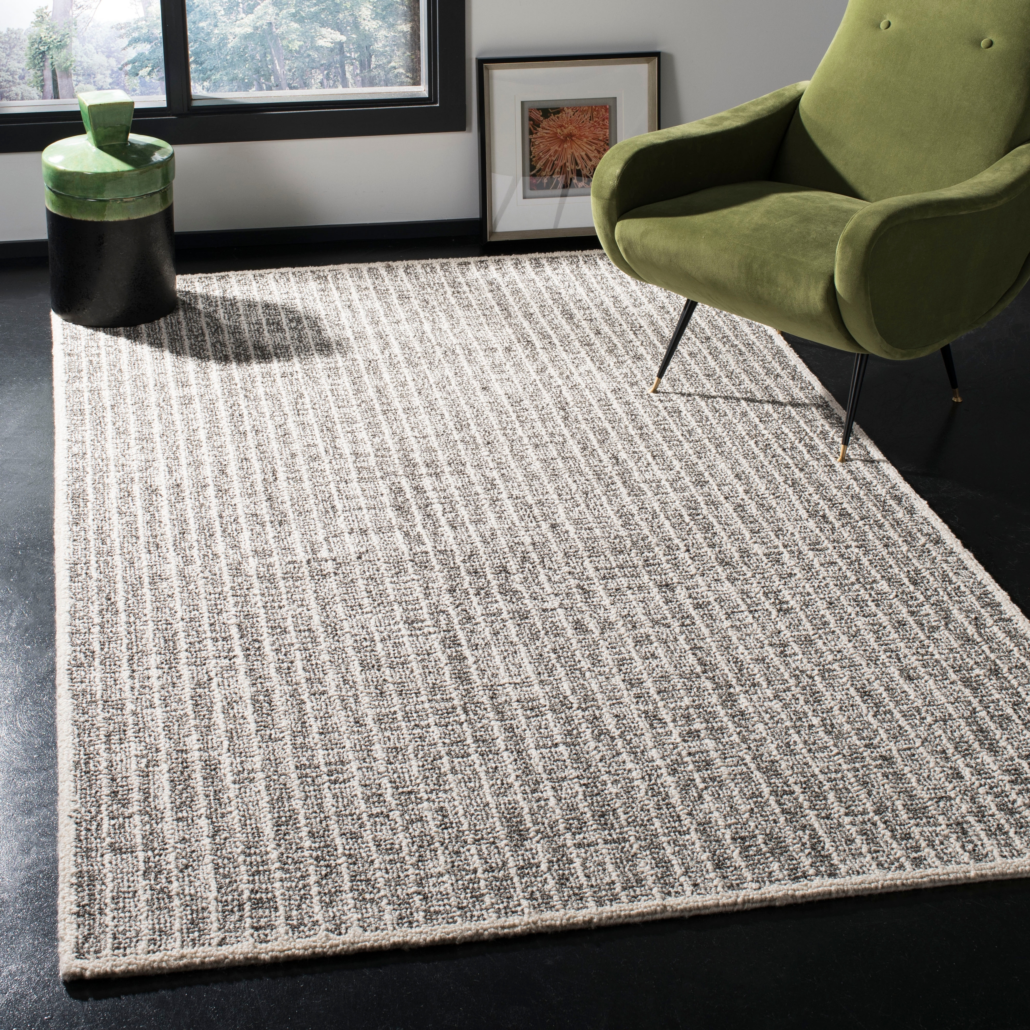 Safavieh Handmade Abstract Luella Modern Wool Rug Overstock 22718415 6 X 6 Round Ivory Black