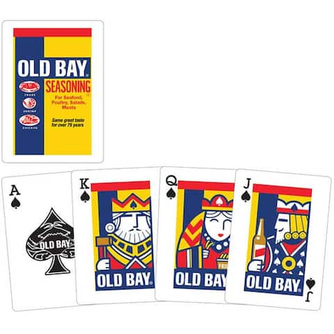 Old Bay Playing Cards - White