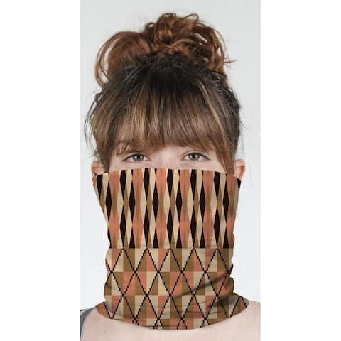 """STEPPING STONE CORAL Neck Gaiter By Becky Bailey - 10"""" x 18"""""""