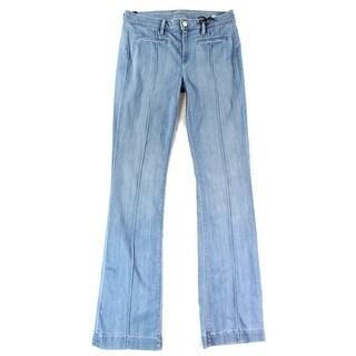 Vince NEW Blue Summer Women's Size 28X33 Boot Cut Leg Seamed Jeans