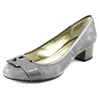 Anne Klein Haleema Round Toe Leather Heels