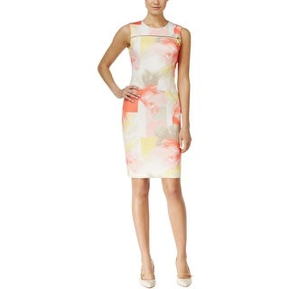 Calvin Klein Womens Casual Dress Zipper Sleeveless - 14