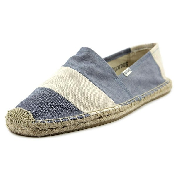 Soludos Original Espadrille Men Round Toe Canvas Blue Espadrille