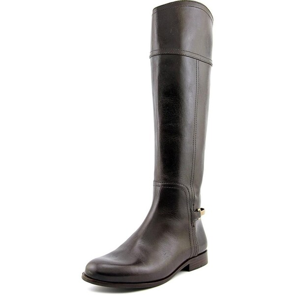 402836bd3e43 Shop Tory Burch Jess Women Round Toe Leather Brown Knee High Boot ...