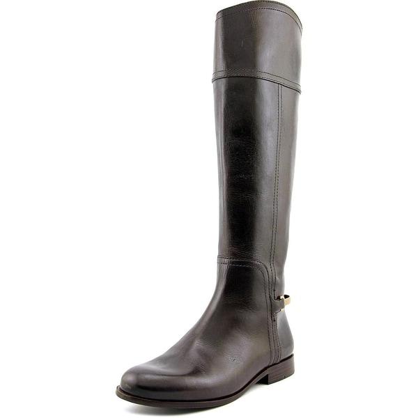 57158ec26e54 Shop Tory Burch Jess Women Round Toe Leather Brown Knee High Boot ...