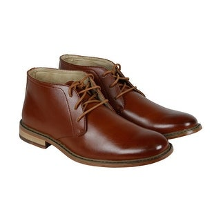 Deer Stags Seattle Mens Brown Leather Casual Dress Lace Up Chukkas Shoes