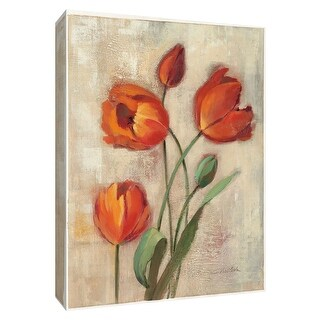 """PTM Images 9-154214  PTM Canvas Collection 10"""" x 8"""" - """"Orange Garden Flower II"""" Giclee Flowers Art Print on Canvas"""