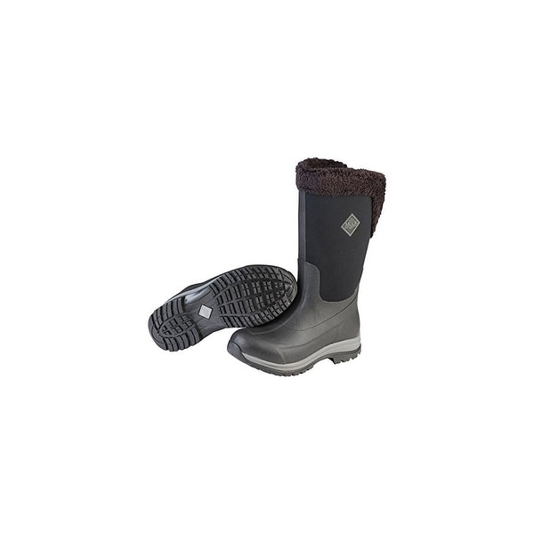 Muck Boots Black/Charcoal Gray Womens Arctic Apres Tall Boot - Size 8