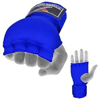 Training Boxing Inner Gloves Hand Wraps MMA Fist Protector Bandages Mitts G100 - Blue