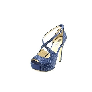 INC International Concepts Melvie 2 Open Toe Canvas Platform Heel