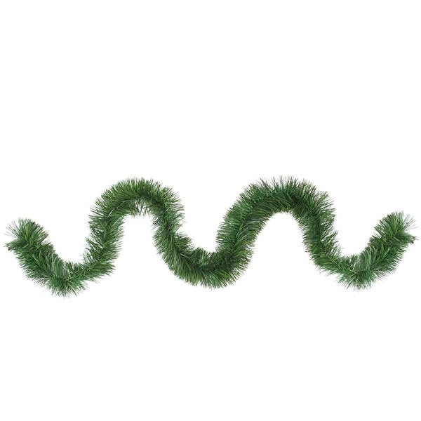 "50' x 4.75"" Commercial Length Two Toned Green Artificial Christmas Rope Garland"