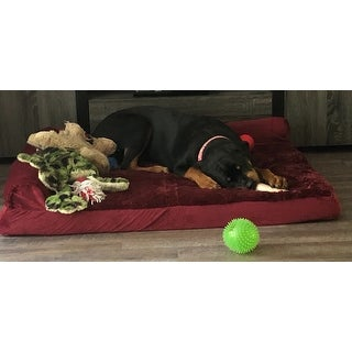 FurHaven Pet Bed | Plush & Velvet Deluxe Chaise Lounge Orthopedic Dog Bed