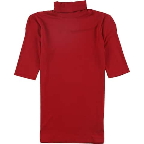 Ralph Lauren Womens Solid Pullover Blouse, red, XX-Small