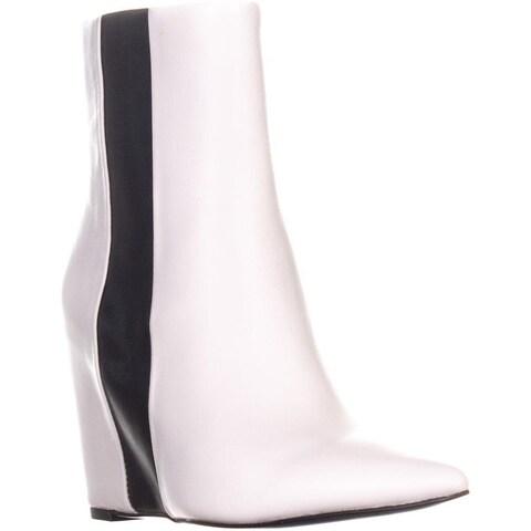Calvin Klein Yvania Wedge Ankle Boots, Platinum White - 5 US / 35 EU