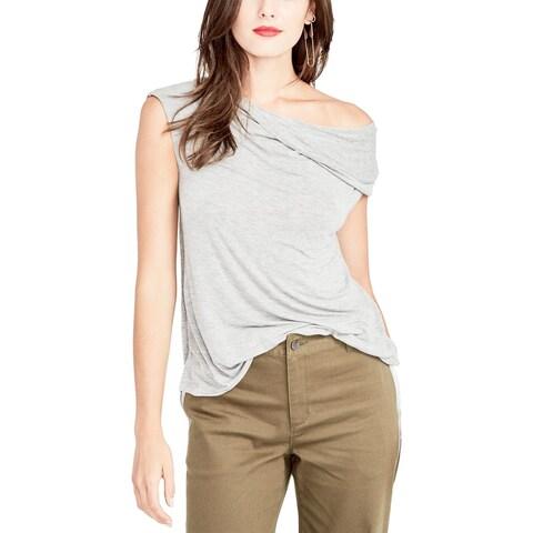 Rachel Rachel Roy Womens Pullover Top Heathered Off-The-Shoulder