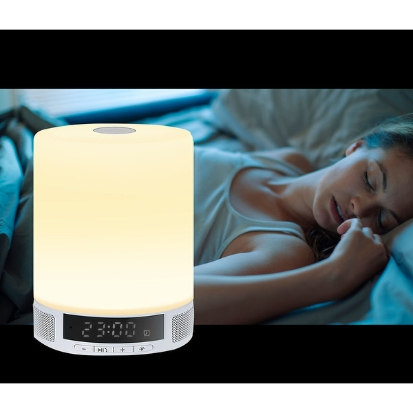 TechComm L2 Wireless Bluetooth Speaker Touch-activated LED Lamp