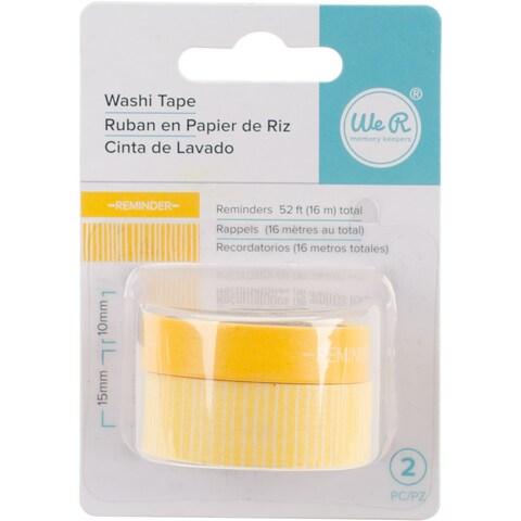Reminders-Yellow - We R Chomper Washi Tape 4/Pkg