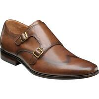 Florsheim Men's Postino Double Monk Strap Cognac Smooth Leather/Perf