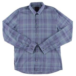 Hugo Hugo Boss Mens Button-Down Shirt Plaid Slim-Fit - XXL