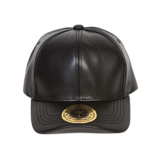 TopHeadwear PU Leather Adjustable Baseball Cap