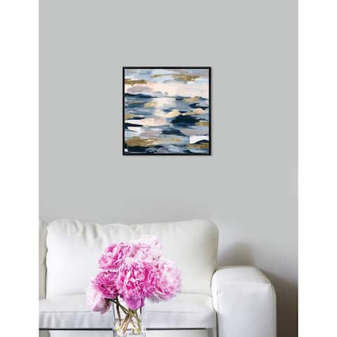 Oliver Gal 'Smoke on the Water' Abstract Framed Wall Art Print