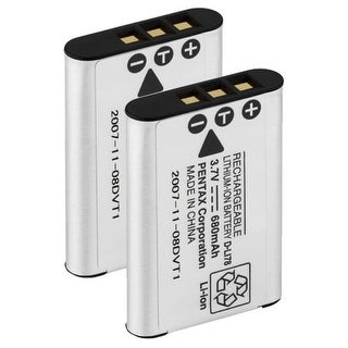 New Replacement Battery For PENTAX Optio W80 Camera Model ( 2 Pack )