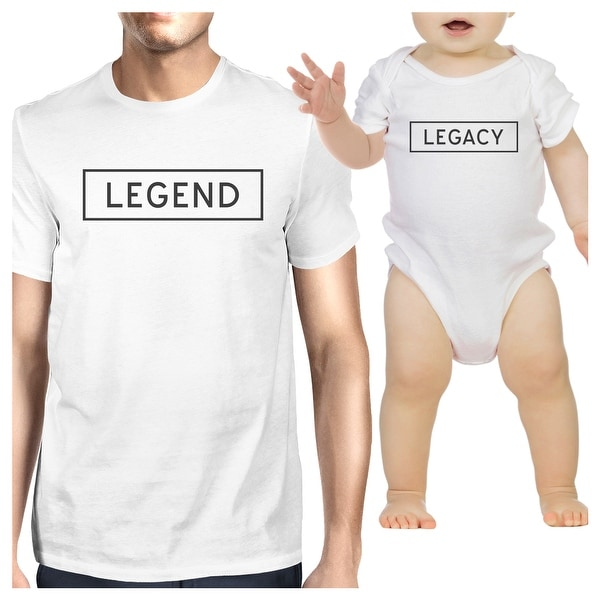 Legend Legacy White Dad Baby Funny Matching Graphic Tops Cute Gifts