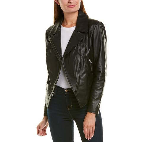 Marc New York Bayside Asymmetrical Leather Jacket