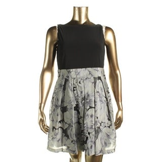 Lauren Ralph Lauren Womens Petites Belissimo Dress Cocktail Dress Fit And Flare