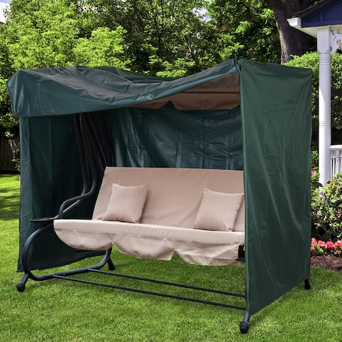Outsunny Large Outdoor Swing Chair Cover for your Garden & Patio Furniture, Protects Against the Wind, UV Rays, & Water
